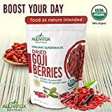 Goji Berries - The Best, Natural, and Highest Quality Dried Whole Raw Fruit Berry - High in iron, Wolfberry - Paleo, Vegan, Protein Snack and Superfood - Organic 16oz by Alovitox