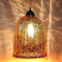 IndianShelf Handmade Decorative Yellow Antique U Shaped Glass Chandelier Celling Lamp Indian Online