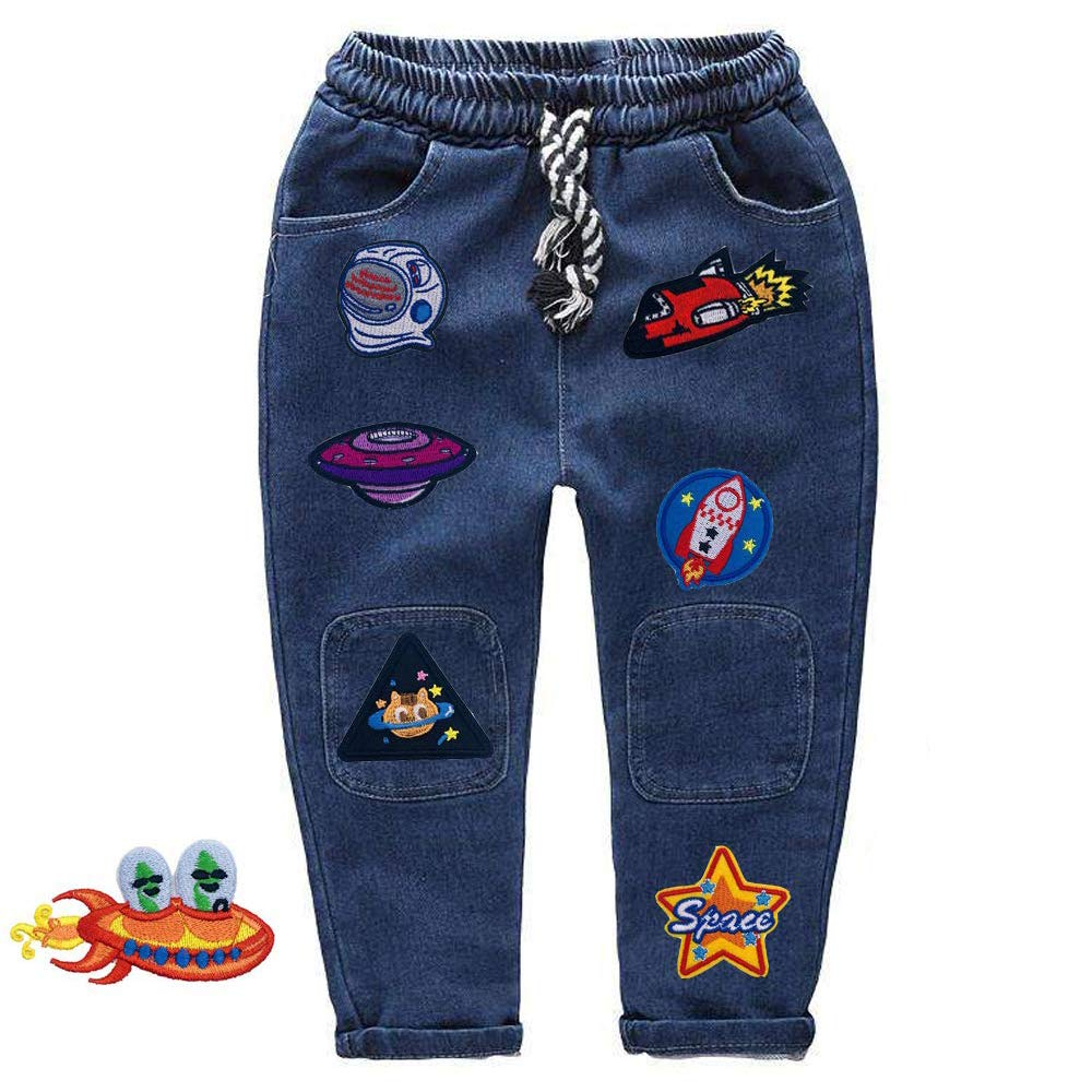 Amaoma 24 Pezzi Toppa Termoadesive Toppe Termoadesive Jeans Toppe per Vestiti Termoadesive Patch Termoadesiva Patch Riparazione Kit per Maglietta Jeans Abbigliamento Borse Cappello Scarpe