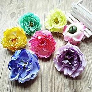 Diy Artificial Silk Flowers Hydrangea Peony Flower Heads Flower Wall Background 32