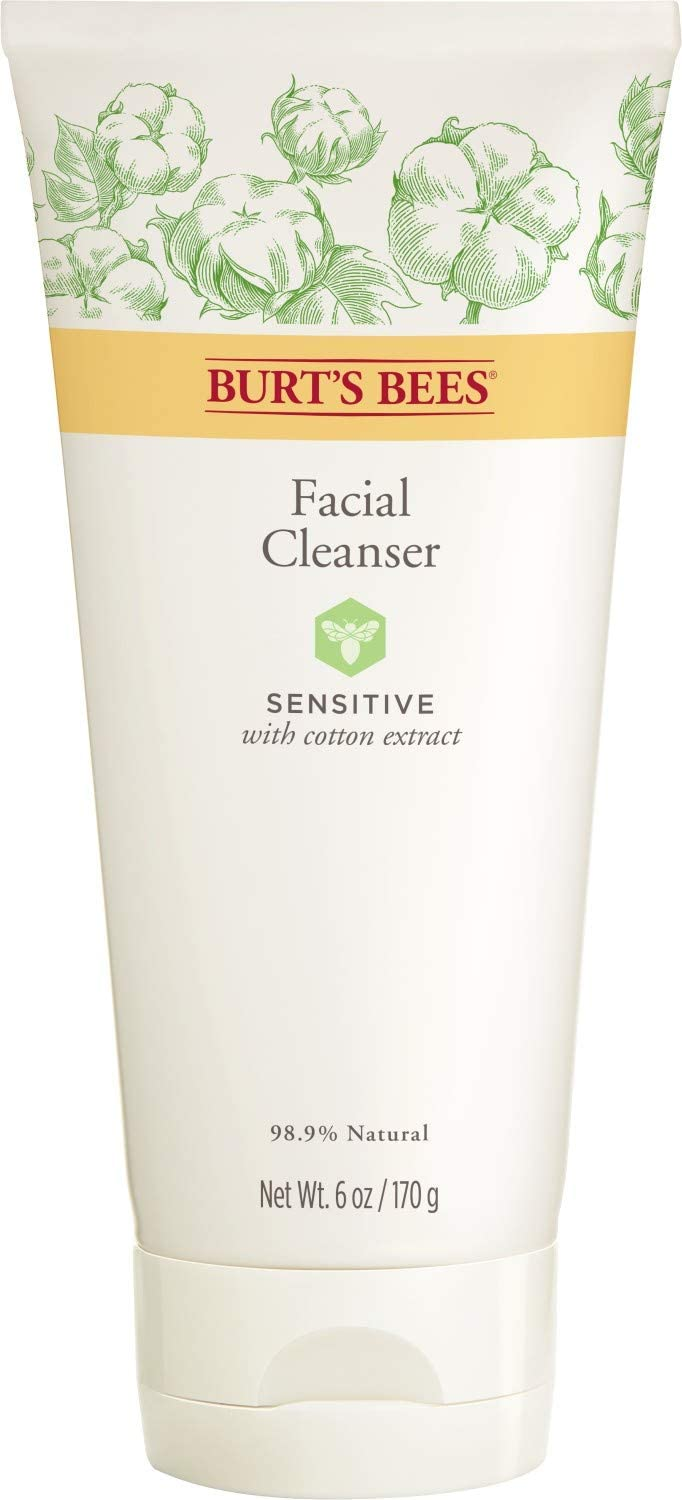 Burt S Bees 99 Natural Sensitive Facial Cleanser With Cotton Extract 170g Amazon Co Uk Beauty