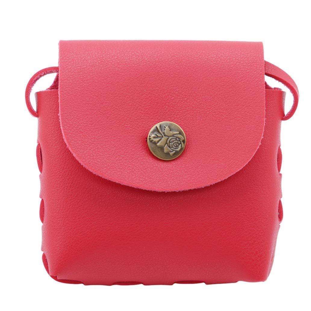 Premium Quality Red Mini PU Crossbody Children Girls Satchel Shoulder Bags Princess Messenger Bag