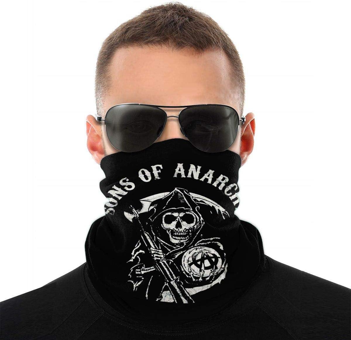 MUKPU Sons of Anarchy Dustproof Windproof Mascarilla Pa/ñuelos Bufanda Multifuncional Pasamonta/ñas de Polaina de Cuello
