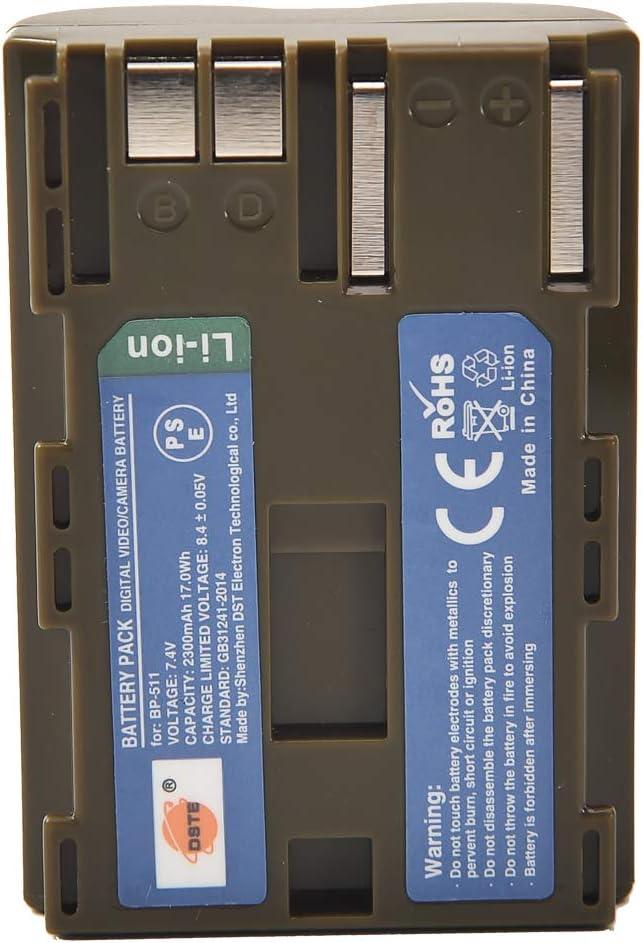 DSTE 2 Piezas de Recambio de bateria BP-511 Batterie USB Cargador Dual Compatible con Canon PowerShot G1 PowerShot G2 PowerShot G3 PowerShot G5