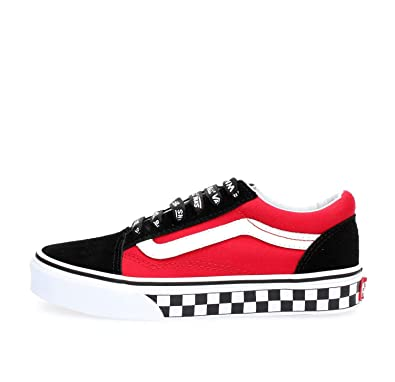 Vans Old Skool Logo Pop Red Skate Shoes