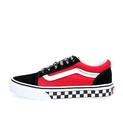 89a3319020 Vans Kids Logo Pop Old Skool Boy s Skate Shoes (1 M US Little Kid