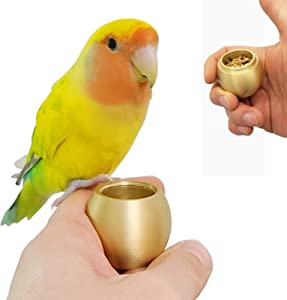 QBLEEV Bird Training Food Jar,Parrot Hand-held Feeder,Parrot IQ Growth Training Tools,Bird Interactive Educational Toys,Bird Tabletop Treat Toys for Parakeets Cocktails Conures Budgies