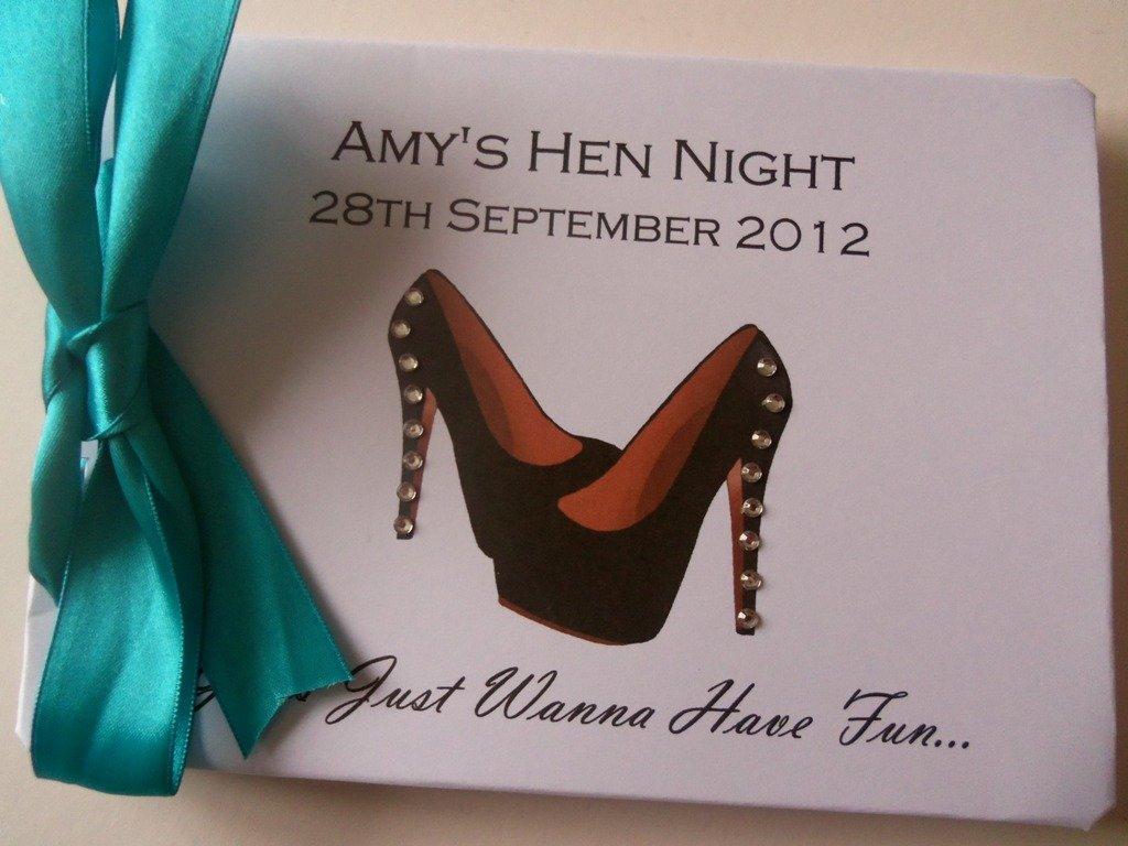 Personalised HEN PARTY Guest Book Photo Album Scrapbook Funny Hen Night Weekend