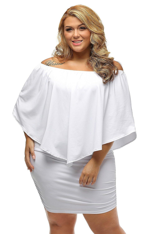 Sunshine Plus Size Dress Multiple Dressing Layered White ...