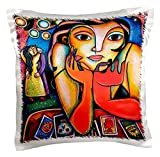 3dRose pc_21203_1 Loteria Woman Colorful Romance Dance Lottery Party-Pillow Case, 16 by 16''