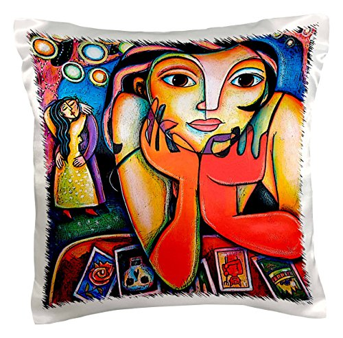 3dRose pc_21203_1 Loteria Woman Colorful Romance Dance Lottery Party-Pillow Case, 16 by 16'' by 3dRose