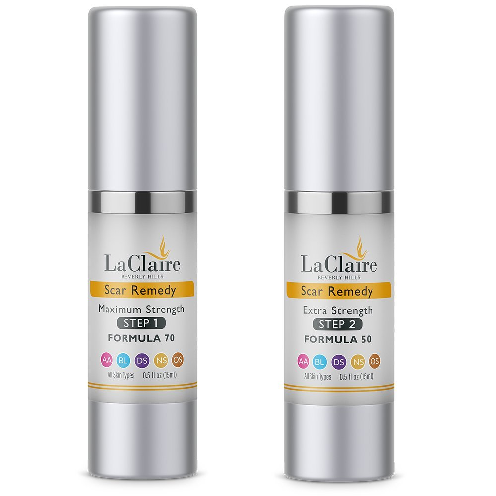 LaClaire Scar Remedy With Cyto Plasma Complex Includes 2 Bottles of Breakthrough Formula Treatment