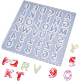 Phoneix Alphabet Resin Silicone Mold - Number Letter Mold for Making Keychain, Jewelry, Wax, Cement, Epoxy, Chocolate, Ice Cube, etc