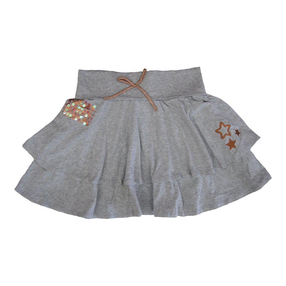 Disney Big Girls Grey High School Musical Glitter Sequin Bow Tiered Skirt 14