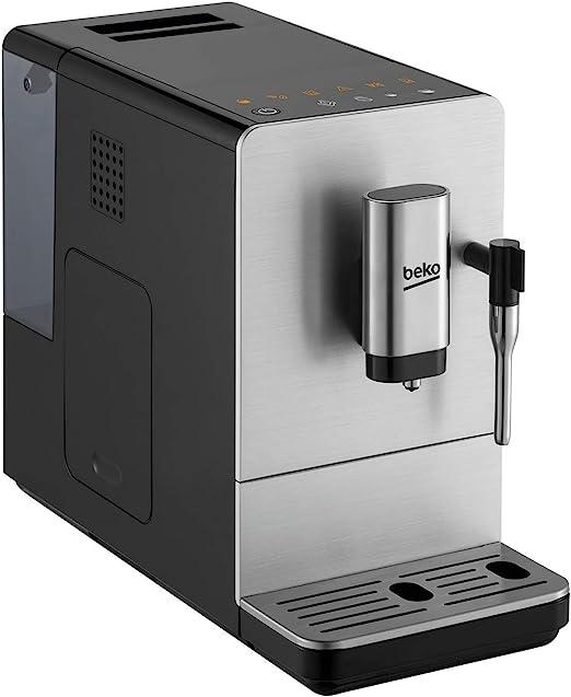 Beko CEG5311X - Cafetera (Independiente, Máquina espresso, 1,5 L, Granos de café, Molinillo integrado, Negro, Acero inoxidable): Amazon.es: Hogar