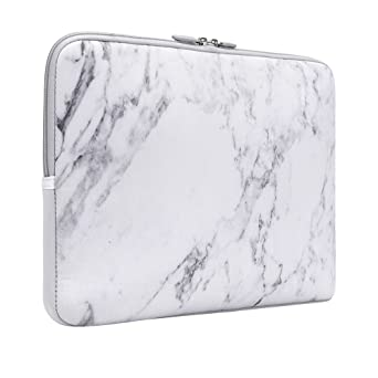 I Casso 12 13.3 Inch Laptop Sleeve White Marble, Neoprene Elegent Protective Notebook Bag Briefcase Cover Carrying Case Mac Book Air, Mac Book Pro, Tablet Pc, Ultrabook, Netbook by I Casso