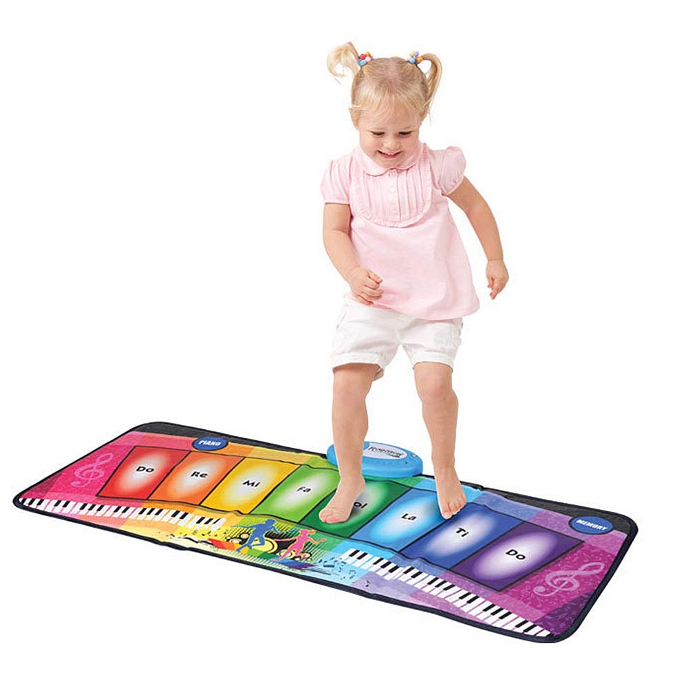 Play Keyboard Mat Foldable Floor Keyboard Piano Dancing Activity Mat 32 Inches 8 Keys Musical Keyboard Playmat With Demo Memory Play Touch-sensitive Step And Play Instrument Toys For Toddlers Kids Chi by GAOCAN-gq (Image #1)