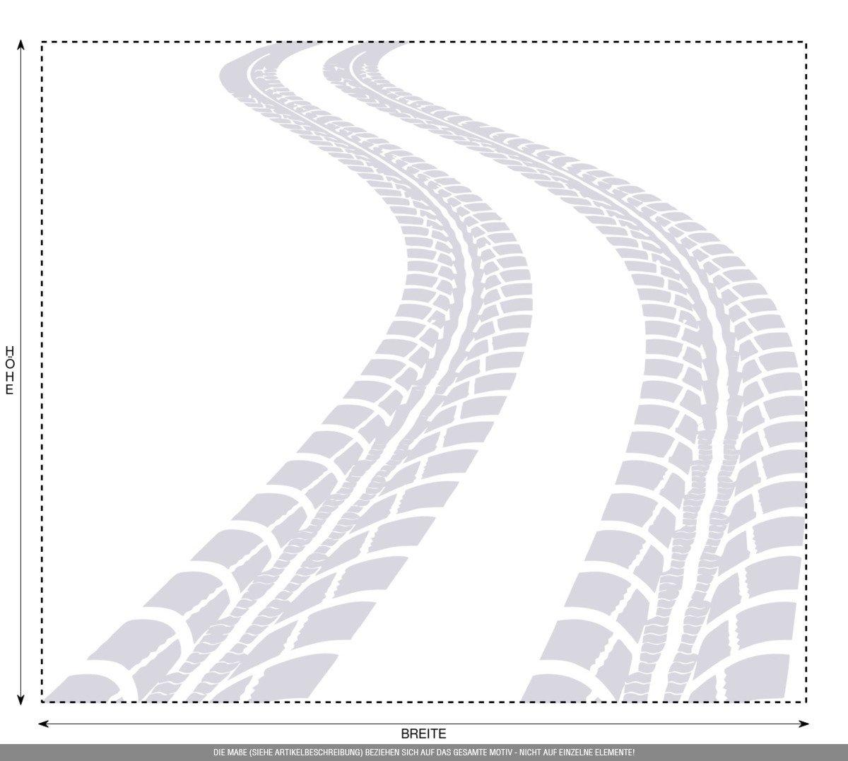 CLICKANDPRINT Aufkleber Aufkleber Aufkleber » Reifen-Spuren, 120x103,7cm, Schwarz • Wandtattoo   Wandaufkleber   Wandsticker   Wanddeko   Vinyl B01N5IZ4SE Wandtattoos & Wandbilder 8fb2c2