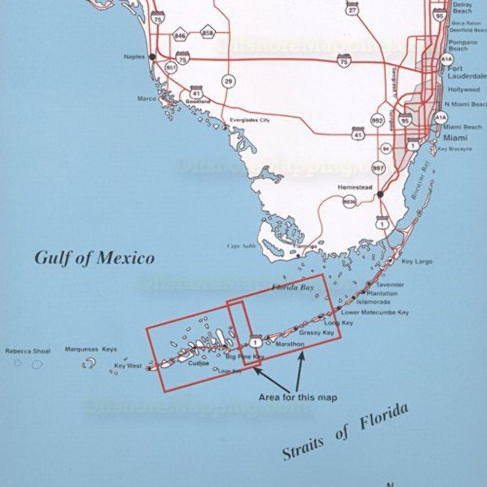 Amazoncom  Top Spot N Map Middle Key Long Key To Boca Chica - Fl map keys