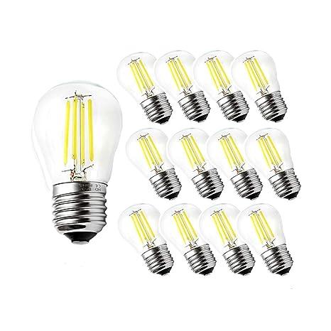 Engeya G45 E27 Bombilla LED de filamento, rosca Edison LED E27 bolas de golf transparente