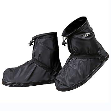 JIANKE Regenüberschuhe Fahrrad Wasserdicht Überschuhe Regen Schuhüberzieher Mehrweg Rutschfest Motorrad Regenschutz Schuhe