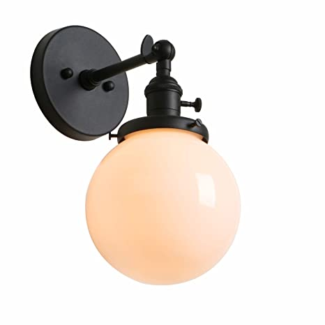 Phansthy glass wall sconce industrial wall light 1 light 59 inch phansthy glass wall sconce industrial wall light 1 light 59 inch globe lamp shade aloadofball Gallery