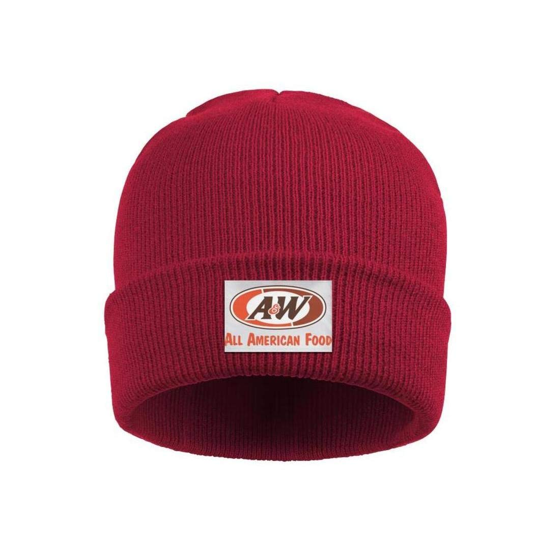 Headwear for Mens Womens Stretchy Solid Color A/&W-Logo-All-American-Food Beanie