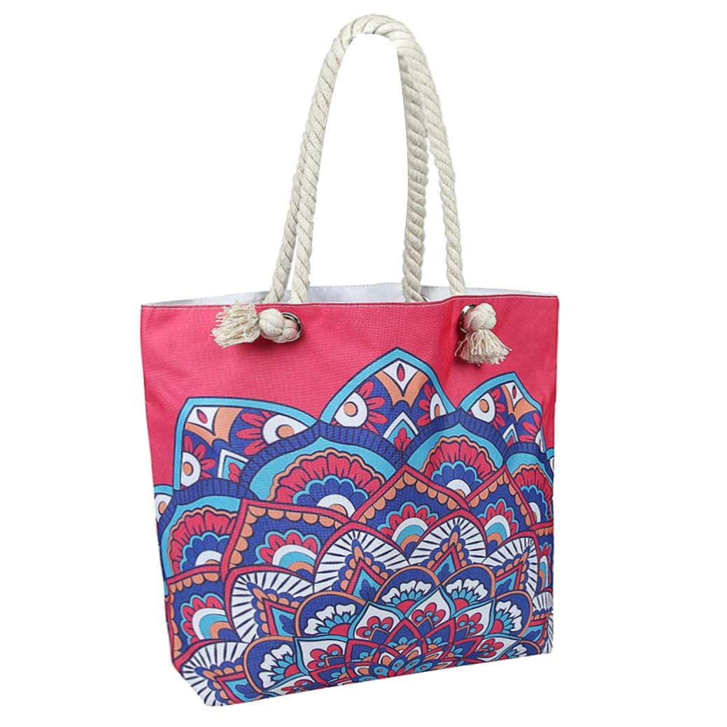 NovForth Beach Bag for Women Extra Large Waterproof Canvas Tote Bag for Ladies 23'' Large Beach Shoulder Handbag for Women