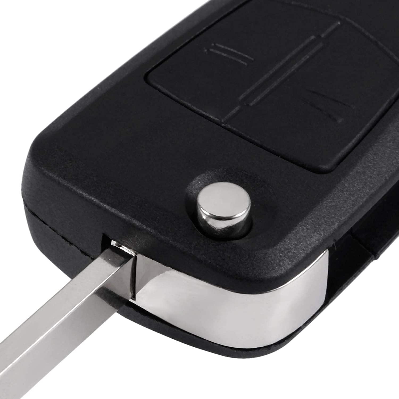 Aupoko 2 Button Fob Shell Remote Key Case Blade for Renault Modus Clio 3 Twingo Kangoo