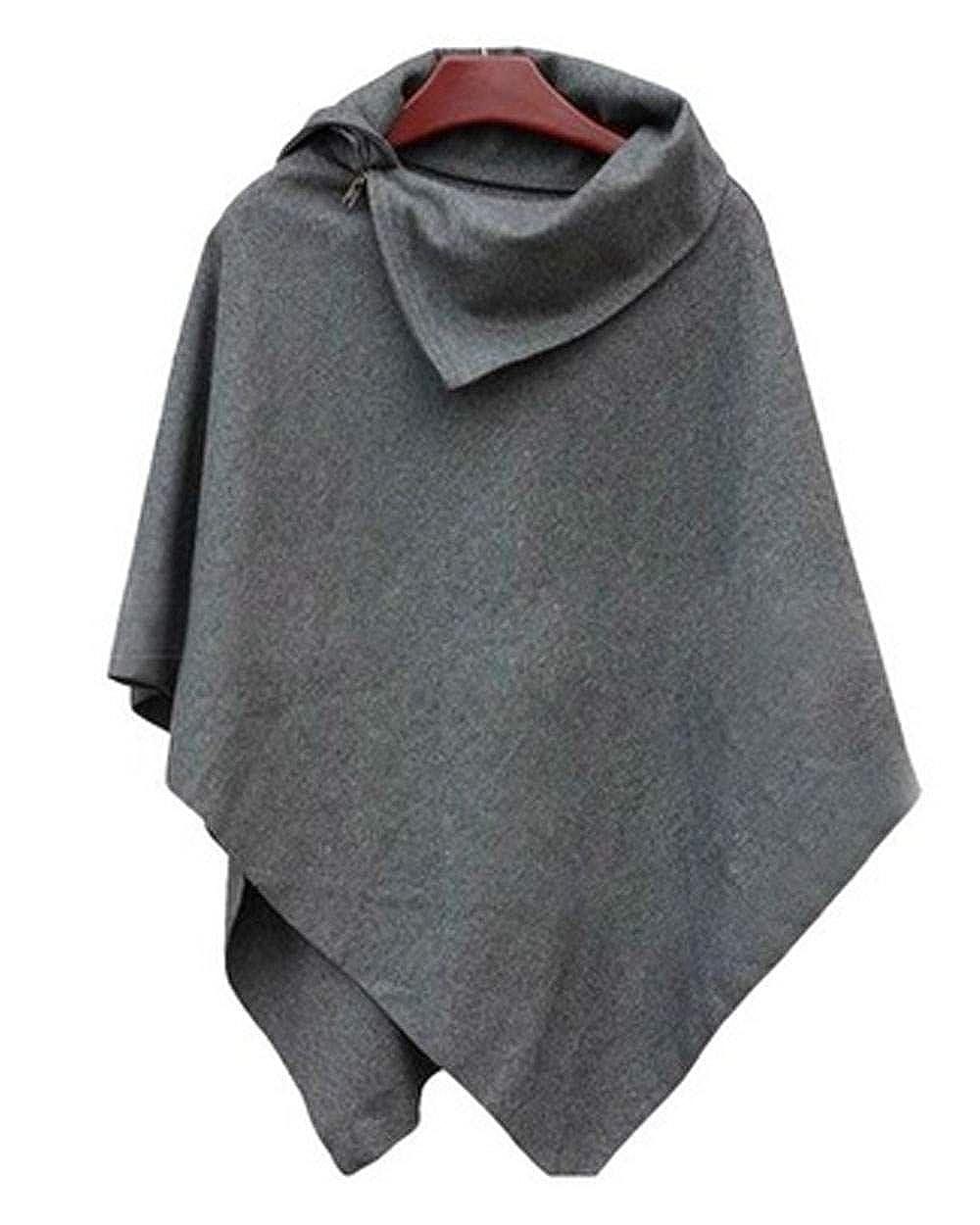 Eshion Fashion Women New Batwing Cape Poncho Cloak Knitting Sweater Top Casual