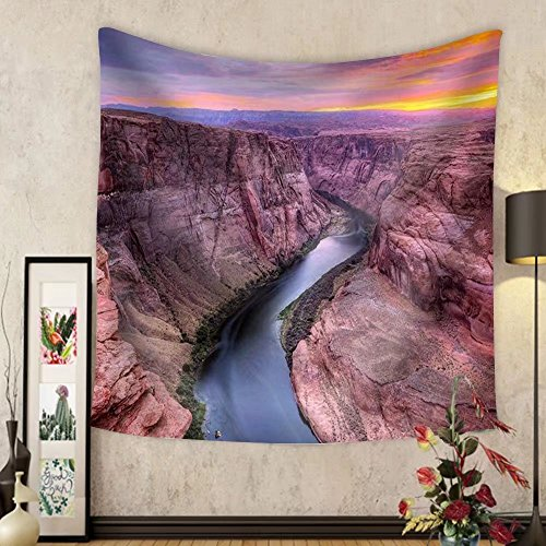 Gzhihine Custom tapestry Colorado River at Horseshoe Bend Page Az. - Fabric Wall Tapestry Home - Willow Bend Map