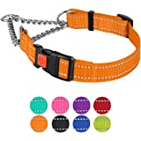 CollarDirect Reflective Dog Collar Martingale Collars Side Release Buckle Chain Training Adjustable Pet Choke Collars