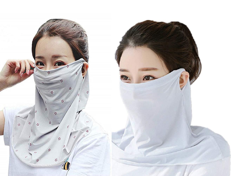 PODOM Womens Sun UV Protection Neck Gaiter Scarf Outdoors Headwear Bandana Scarfs Multi-Functional Headwear