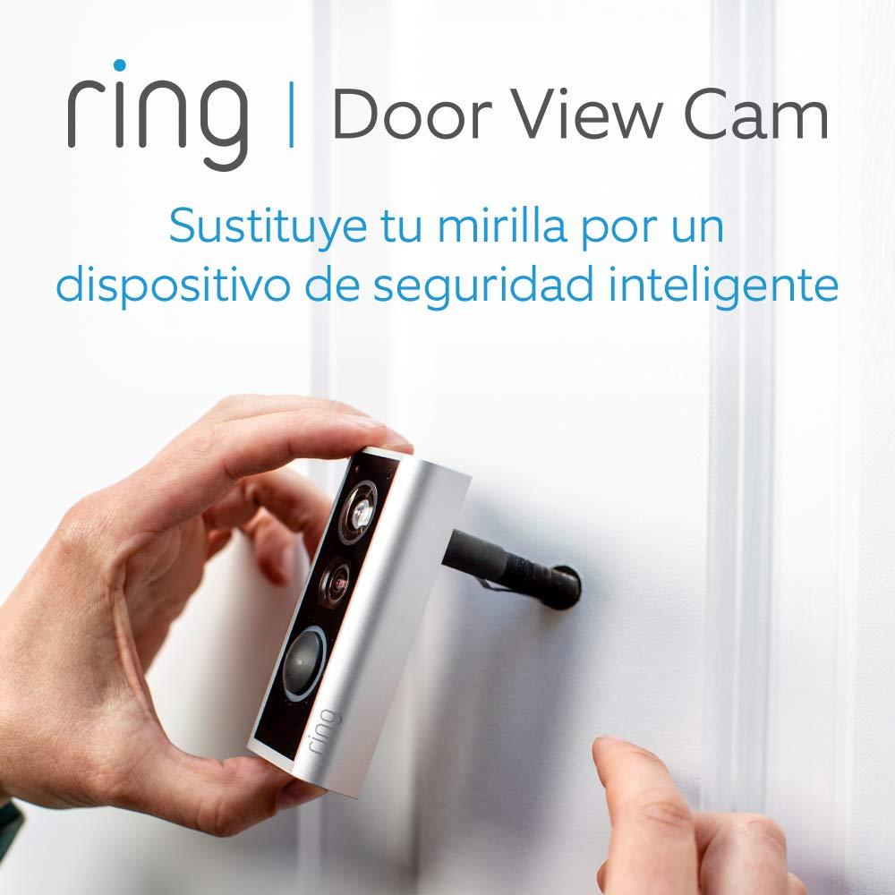 Ring Door View Cam | El videotimbre que sustituye tu mirilla, con vídeo HD 1080p y comunicación bidireccional | Para puertas con un grosor de 34 a 55 mm