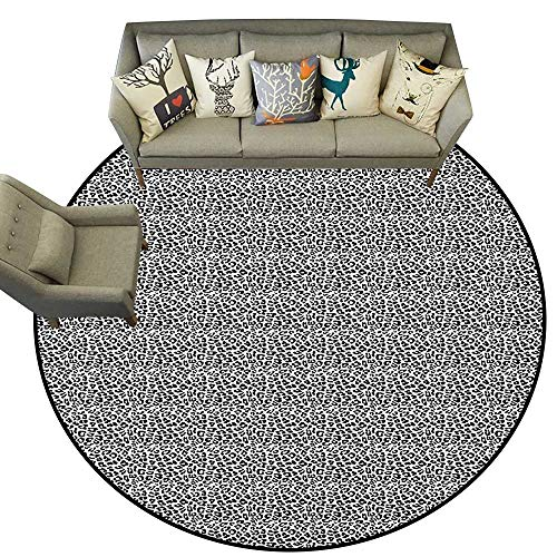 Leopard Print,Kitchen Floor mats Black and White Graphic Style Wild Jungle Animal Abstract Skin with Spots D36 Floor mats for ()