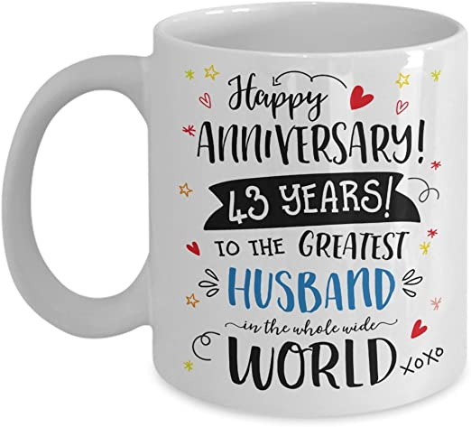 43rd Anniversary Gift For Husband 43rd Anniversary Gift For Him