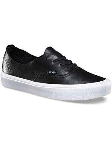 vans authentic leather black white