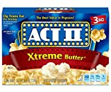 popcorn act ii - Act II Popcorn Extreme Butter, 3 Count Box (Pack of 12)