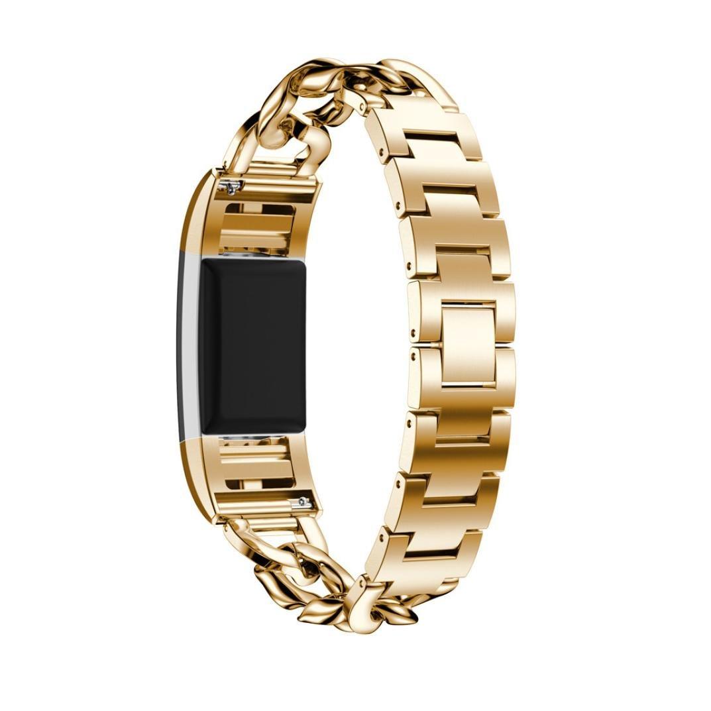 For Fitbit Charge 2バンド、hp95 ( TM )交換用ステンレススチール腕時計バンド手首ストラップfor Fitbit Charge 2 Smart Watch 135-215mm ゴールド HP-Fitbit C2 Band  ゴールド B075G9JGW9