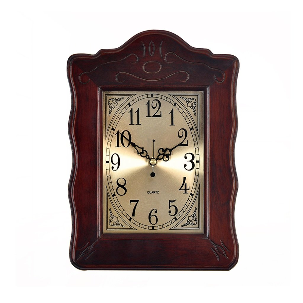 HAOFAY Clock on the Table Desktop Wood Decoration Table Clock Bedroom Bedside Dual-use Clock Ornaments