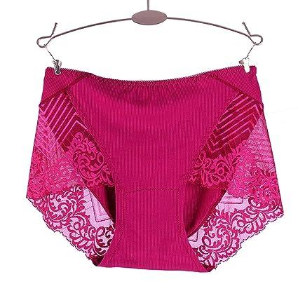 Braguitas Bragas Briefs Pantalones Calzoncillos Ropa Interior Malla De Encaje Femenina Hilo Abdomen Cintura Alta Sexy