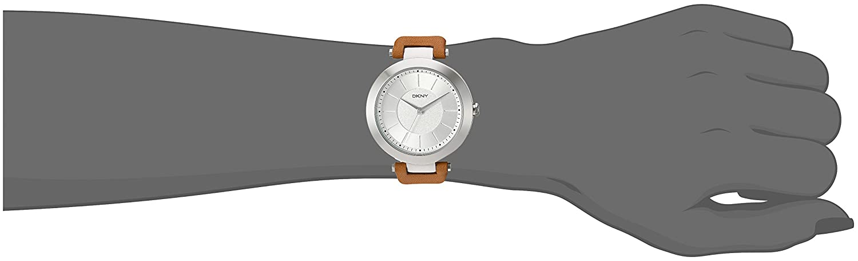 Leder Armbanduhr Ny2293Uhren Analog Dkny Damen Quarz E29DHIeWY