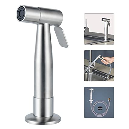 Superbe Lyty Stainless Steel Kitchen Faucet Side Sprayer Head And Hose Assembly,  Replacement Sink Spray Brushed