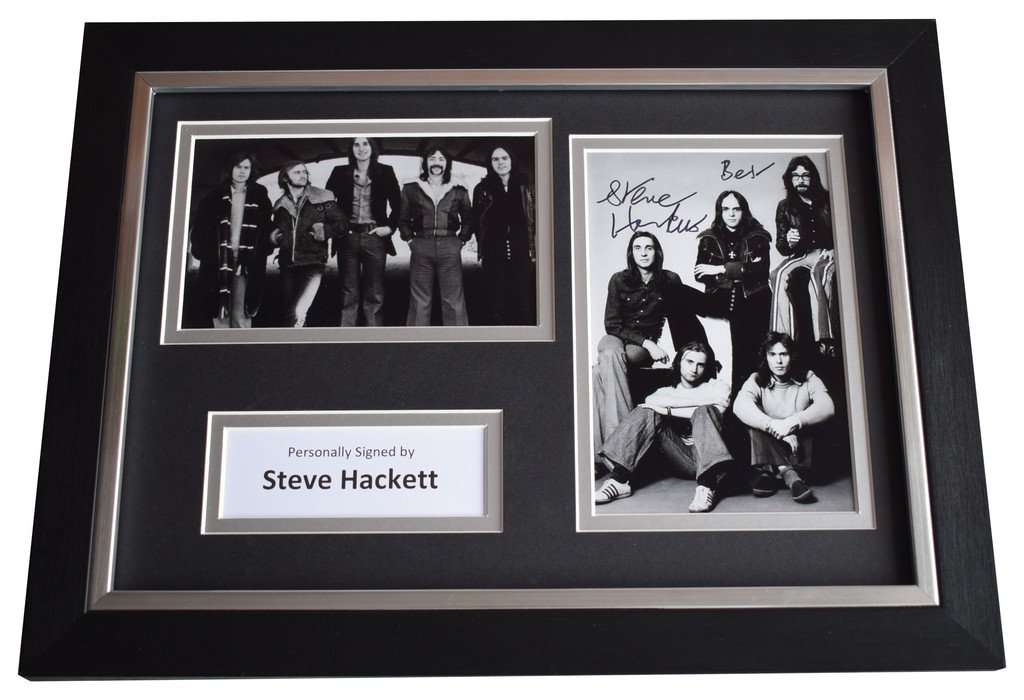 Sportagraphs Steve Hackett Signed A4 FRAMED Autograph Photo Display Genesis Music AFTAL COA PERFECT GIFT