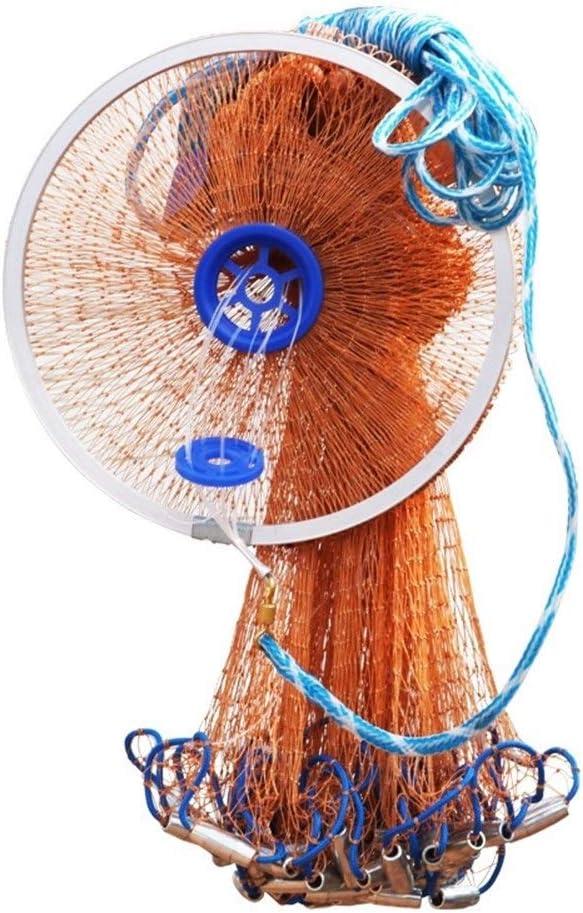 Aluminiumringe Fischernetze Wurfnetz leicht zu Guss Nets Hand Guss Nets Fische fangen Nets Guss Nets XIAOQBH Fischernetze