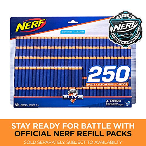 61qZspWYdUL - Nerf Rampage N-Strike Elite Toy Blaster with 25 Dart Drum Slam Fire and 25 Official Elite Foam Darts For Kids, Teens, and Adults