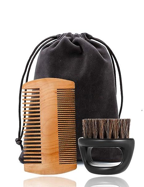 Kit De Cuidado De Bigote Barba Grooming Recorte Set Regalos Para Hombres Barbas Peine Cepillo Tijeras