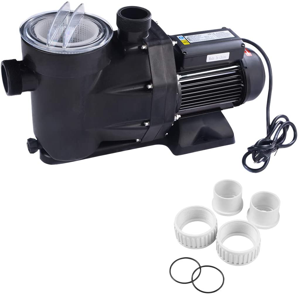 Goplus 1.5HP Swimming Pool Electric Pump Water Pump SPA DC 5040 GPH 1-1/2