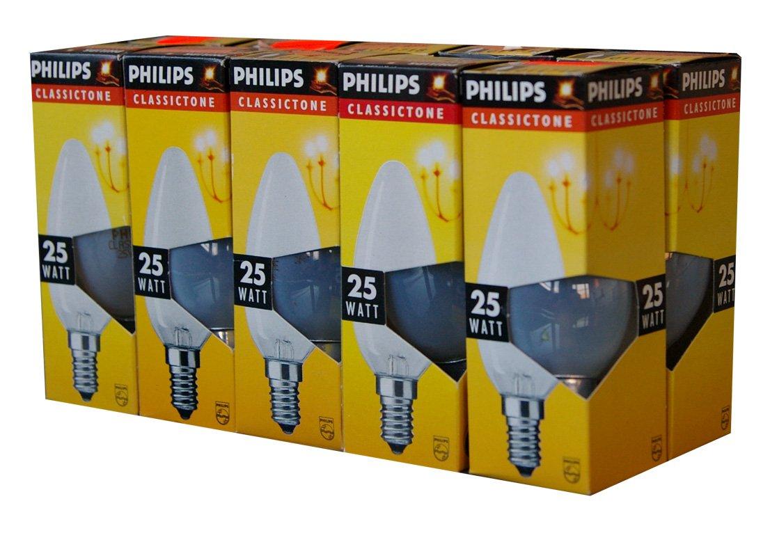 10 x Philips Glü hlampe Glü hbirne Kerze 25W E14 MATT Glü hbirnen Glü hlampen Kerzen