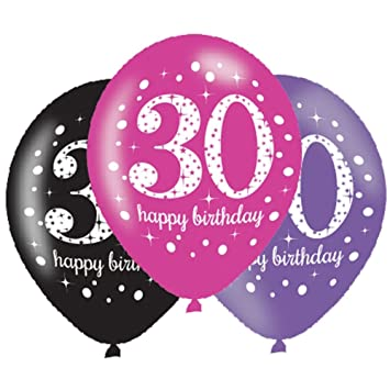 6 X 30th Birthday Balloons